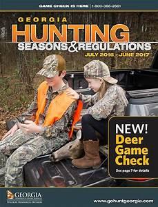 Georgia Hunting Seasons  U0026 Regulations  U2013 2016