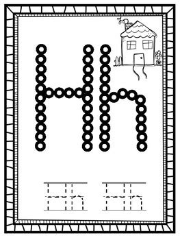 alphabet  tip painting letters  kindergarten maestra tpt