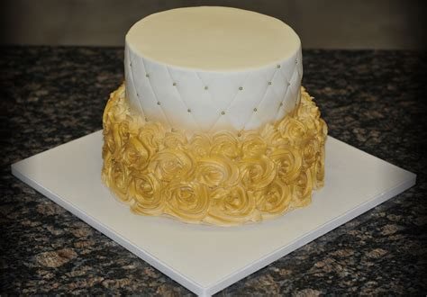 gold buttercream  white icings