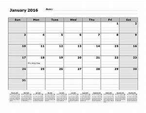 2016 monthly calendar template with 12 months references With 12 month planner template