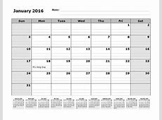 2016 Monthly Calendar Template with 12 Months References