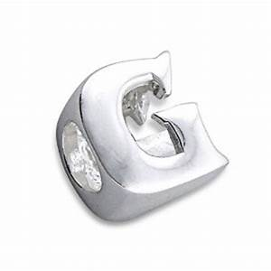 pandora silver letter g 3d charm best selling jewellery With pandora letter g charm