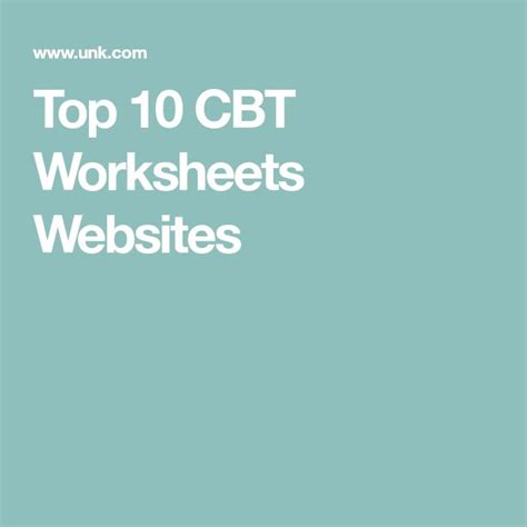 Best Cbt Best 25 Cbt Worksheets Ideas On Cognitive