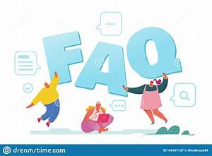 Faq Service Concept  People Asking Questions Online