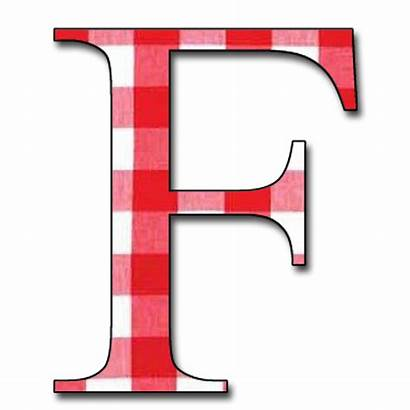 Alphabet Letter Gingham Letters Scrapbook Capital Dropping