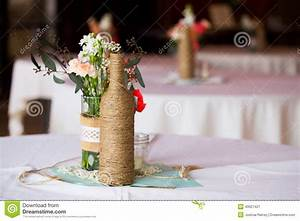 Wedding Reception Table Centerpieces Stock Image - Image