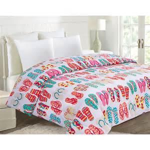 ashley cooper flip flops microfiber comforter boscov s