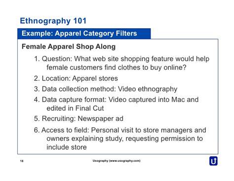ethnography   usography