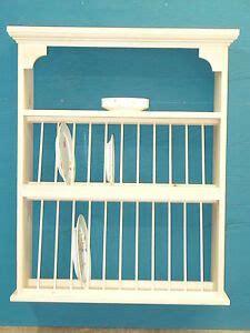 slant front organizer crown moulding wood cup plate dish rack shelf cabinet ebay