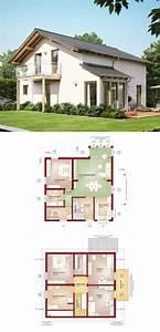 Modernes Haus Grundriss : modernes einfamilienhaus mit satteldach solution 151 v6 living haus fertighaus bauen ~ Orissabook.com Haus und Dekorationen