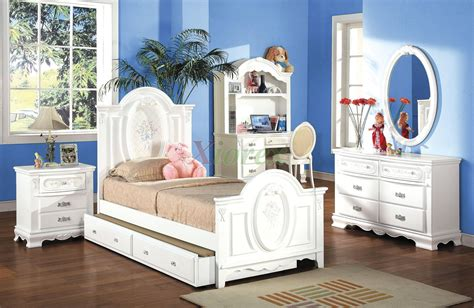 kids bedroom furniture set  trundle bed  hutch