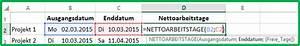 Datumsdifferenz Berechnen : excel datum differenz funktion nettoarbeitstage berechnen ~ Themetempest.com Abrechnung