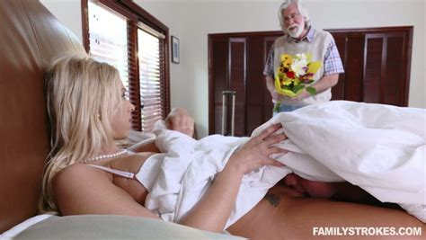 a stepson takes care of his horny stepmom katie morgan while dad is away