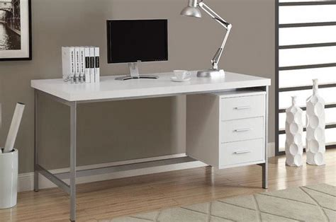 white wood desk accessories modern computer desk white wood for home office