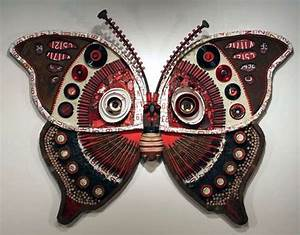 Recycled metal wall art michelle stitzlein s moth collection