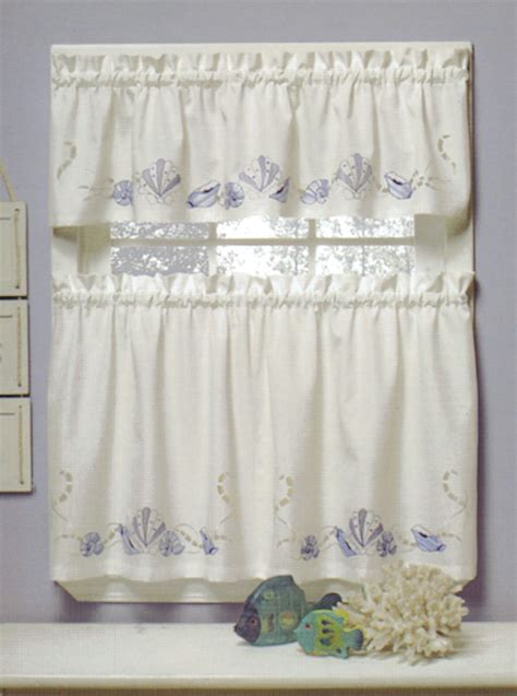 curtain bath outlet seabreeze embroidered tier