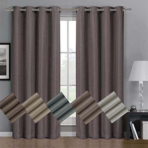 gulfport gray grommet faux linen blackout weave window