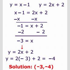 How To Solve Systems Of Linear Equations By Substitution , Examples, Pictures, Practice Step Is