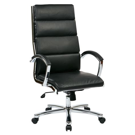 High Back Leather by High Back Executive Black Faux Leather Chair