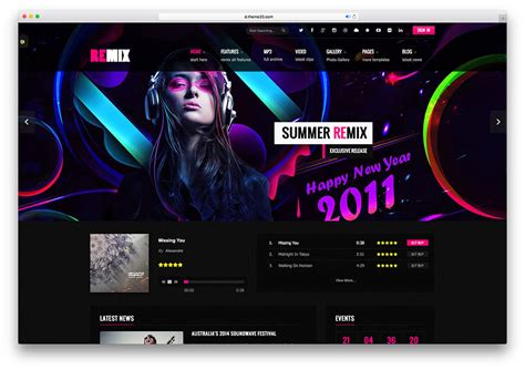 Music Festival Website Template 18 Best Responsive Html5