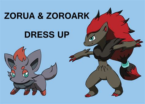 Zorua And Zoroark Dress Up By Pichu90 On Deviantart