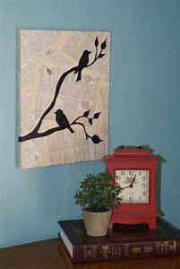 Crafty life easy bird wall art