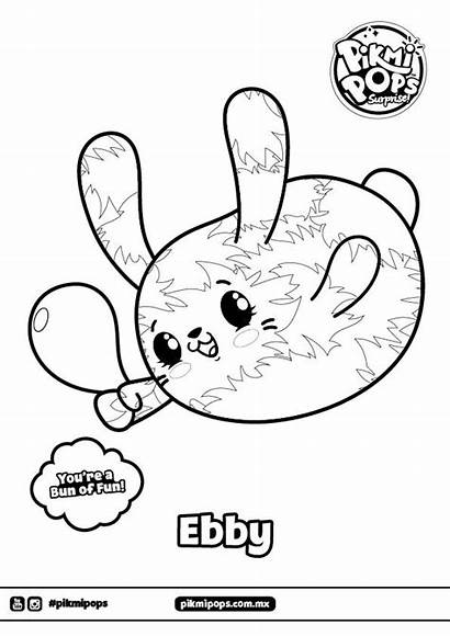 Pikmi Pops Coloring Coloriage Ebby Printable Dessin