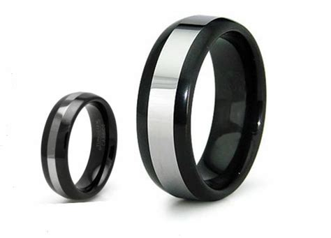 Tungsten Carbide Couple's Matching Wedding Promise Black