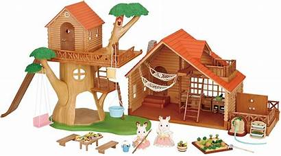 Sylvanian Families Cabin Log Treehouse Toy Nz