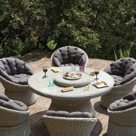 salon de jardin r 233 sine kettler barcelona 6 fauteuils 1 table gamm vert