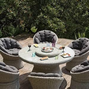 Table De Jardin Resine : salon de jardin r sine kettler barcelona 6 fauteuils 1 table plantes et jardins ~ Teatrodelosmanantiales.com Idées de Décoration
