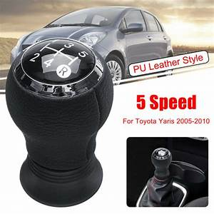 5 Speed Pu Gear Shift Shifter Knob For Toyota Yaris Manual