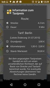 Taxifahrt Berechnen : tipp taxikosten berechnen androidmag ~ Themetempest.com Abrechnung