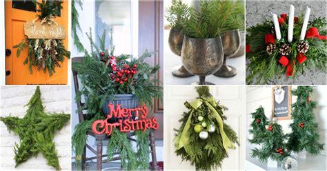 creative ways   fresh evergreen   christmas
