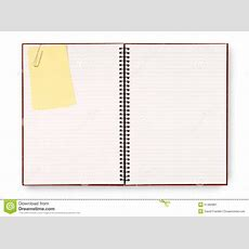 Blank Writing Book Spiral Notepad, Yellow Post It Style Sticky Note Isolated On White Background