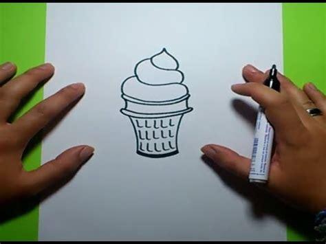como dibujar  helado paso  paso    draw  ice