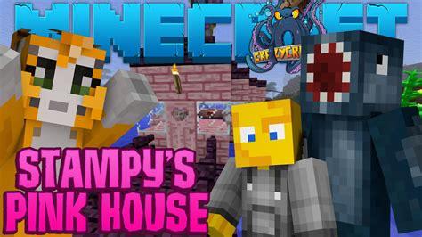 minecraft crazy craft  stampys pink house  youtube