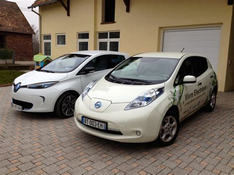 Renault Zoe And Nissan Leaf Side To Side  Clean Car Journal