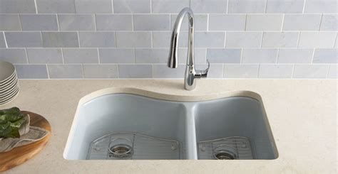 Kohler Enameled Cast Iron Sink Colors by Enameled Cast Iron Kitchen Sinks Care Cleaning