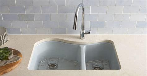 Kohler Cast Iron Sink Enamel Care by Enameled Cast Iron Kitchen Sinks Care Cleaning