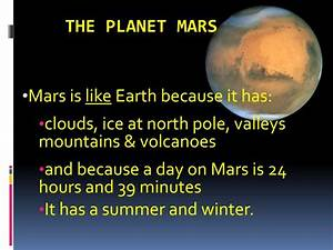 PPT - THE PLANET MARS PowerPoint Presentation - ID:5289178
