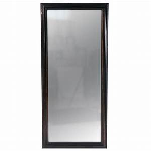 Dutch Colonial Full Length Ebony Framed Mirror at 1stdibs