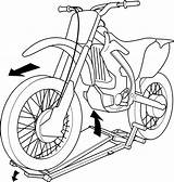 Dirt Bike Dirtbike Clipart Drawing Vector Motocross Stand Outline Sketch Davidson Harley Coloring Svg Draw Drawings Getdrawings Whip Silhouette Plans sketch template