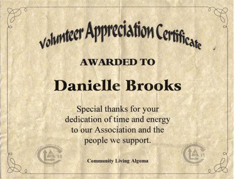 volunteering volunteer   certificate