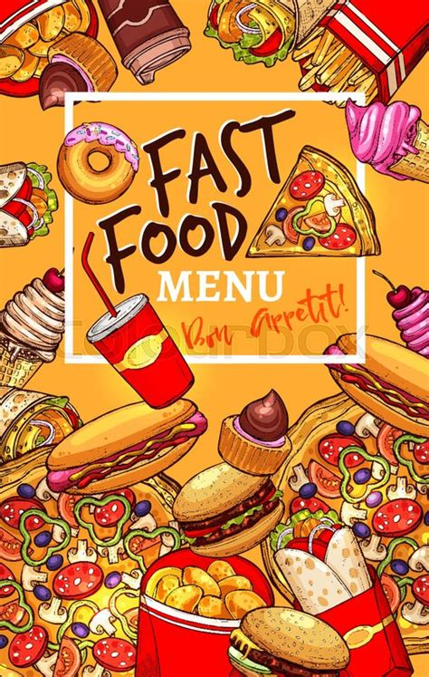 Fast food restaurant menu design ... | Stock vector ...