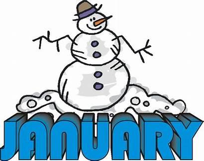 January Clip Clipart Birthday Month Google Snowman
