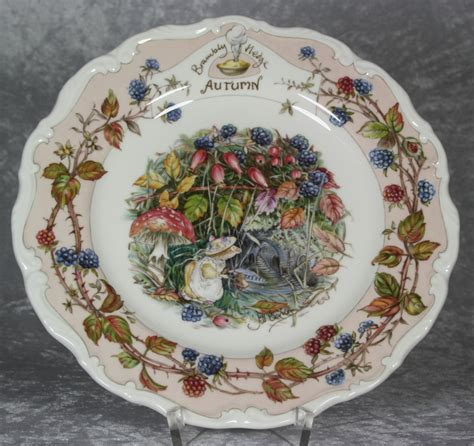 Royal Doulton Geschirr by Porcellanics Brambly Hedge Teller 20cm Autumn