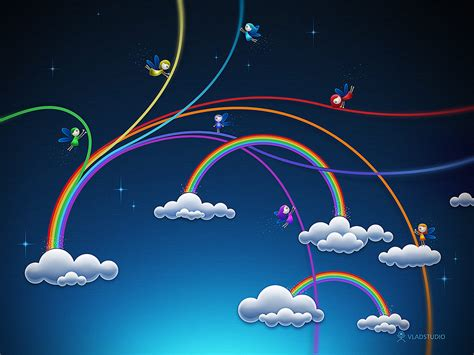 Rainbow Animated Wallpaper - animated rainbow wallpaper photoshop tutorials