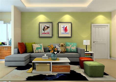 green livingroom bright green wall living room sofa 3d house green
