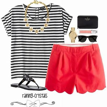 Polyvore Summer Shorts Outfit Casual Outfits Preppy